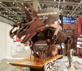 ダンボール製全長5mトリケラトプス