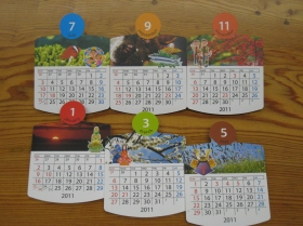 ロッキングチェアー型カレンダー