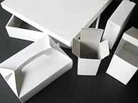 加工例:コートボールやダンボールでの紙器